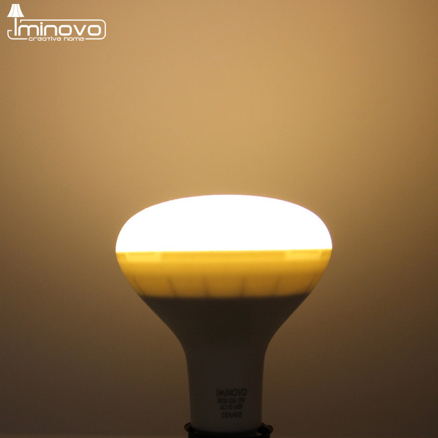 IMINOVO LED BR30 Light Bulb 12W 15W Dimmable E26 E27 Mushroom ...