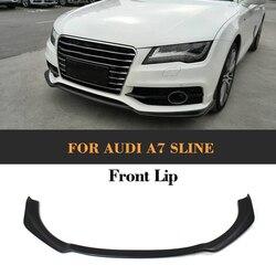 Dla A7 przedni zderzak samochodowy Spoiler dla Audi A7 Sline zderzak tylko FRP niepomalowany czarny podkład Car Styling 2012-2014
