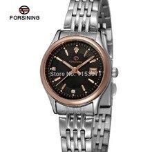 Forsining FSL8089Q4T4 женщины кварцевые часы из нержавеющей стали браслет с розовым золотом цвете баров индекса, высокое качество