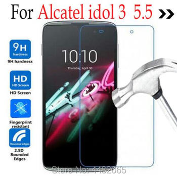 Tempered Glass For Alcatel One Touch Idol 3 5.5 6045 6045K 6045Y 6045B 6045I Phone Screen Protector Cover Protective Film Guard image