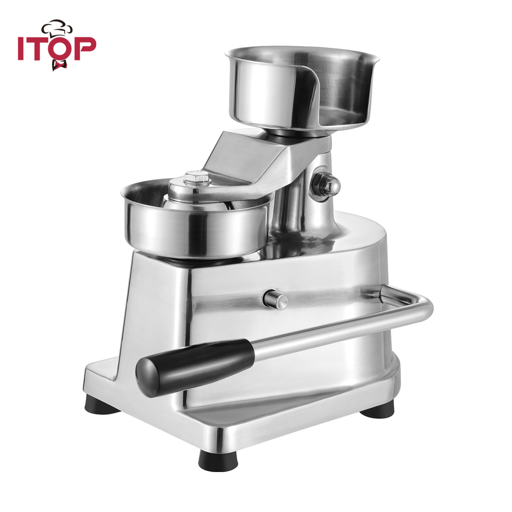 ITOP 100MM 130MM commercial burger press,hamburger patty maker,hamburger mould,press machine With 400pcs greaseproof paper professioin commercial 100mm hamburger press patty machine bread patty forming machine