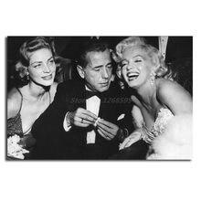 Marilyns monroes com humphrey bogart e lauren bacall hd arte lona poster pintura parede imagem do quarto impressão decoração