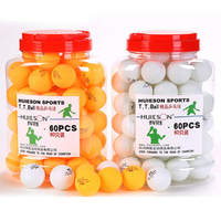 60pcs Barrel 3 Star Table Tennis Balls 40mm 2 9g Ping Pong Ball Yellow White For