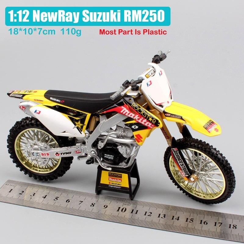 Newray Suzuki RMZ 450 2014 motocross dirt bike diecast model bike 1:6 scale