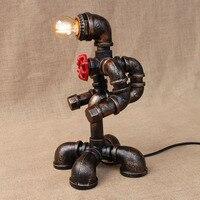 Книги по искусству деко черный мастерской настольная лампа e27 винтажные Ретро робот стол свет бра для изучения прикроватная тумбочка для сп