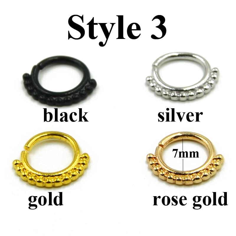 Malena veličina 1 komad pravi rukav prsten probušen piercing Septo - Modni nakit - Foto 6