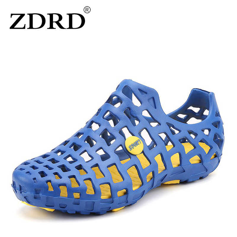 ZDRD  Mens Summer Casual Hollow Jelly Breathable male beach Sandals Garden Shoes mens gladiator slipper Beach Sandle Plus Size free shipping candy color women garden shoes breathable women beach shoes hsa21