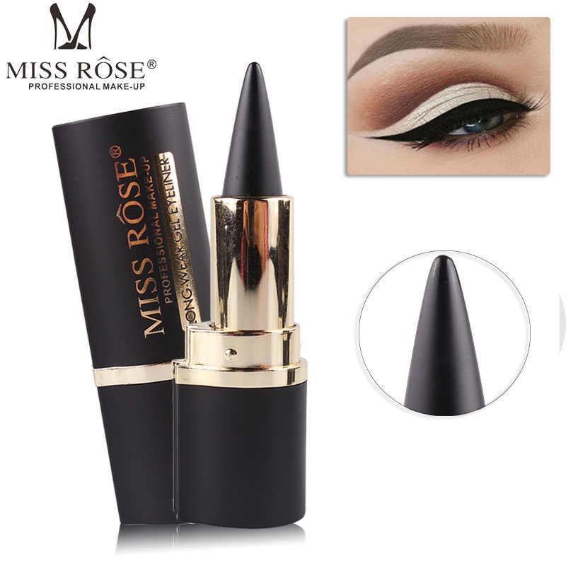 Miss Rose Черная Подводка-гель для глаз долговечный карандаш для глаз Водонепроницаемая подводка для глаз легко носить для карандаша для глаз макияж для бровей Косметика