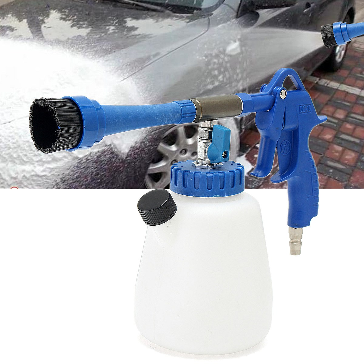 for tornado interior dry deep cleaning cleaner car foam washing tool with brush head in car. Black Bedroom Furniture Sets. Home Design Ideas