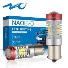 NAO P21W BA15S LED 5.5W 1300LM Car Reversing Light 21 SMD 2835 Chips 12V White 1156 Amber Auto Turn Signal Lamp Super Bright