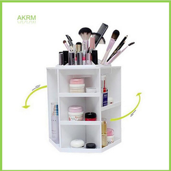 360 Degree Rotating Plastic Storage Box Case Organizer For Cosmetic Stand Container Makeup Storage Box For Jewelry 32x27cm