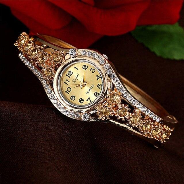 GEMIXI Women Watches Hot Sale Fashion Luxury Stainless Steel Women's Watches Bra