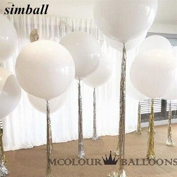 10pcs 36 Inch 90cm Big White Balloon Latex Balloons Wedding Decoration Inflatable Helium Air Balls Happy Birthday Party Balloons