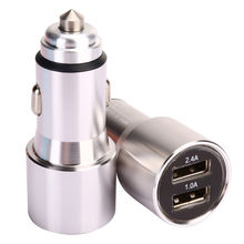 Car Charger 5V/2.4A/1A Quick Charge Dual USB Port Adapter Voltage for Phone For samsung For Xiaomi mi For bmw x3 e83 x1 e84 f31(China)