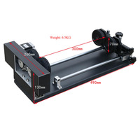 4 Wheels rotary attachment working table for Glass bottle in laser engraving and cutting machine