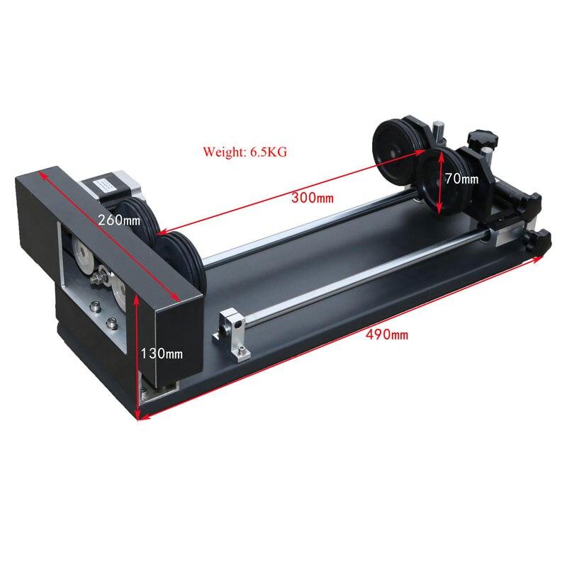 Table de travail rotative à 4 roues pour bouteille de verre dans une machine de gravure et de découpe laser