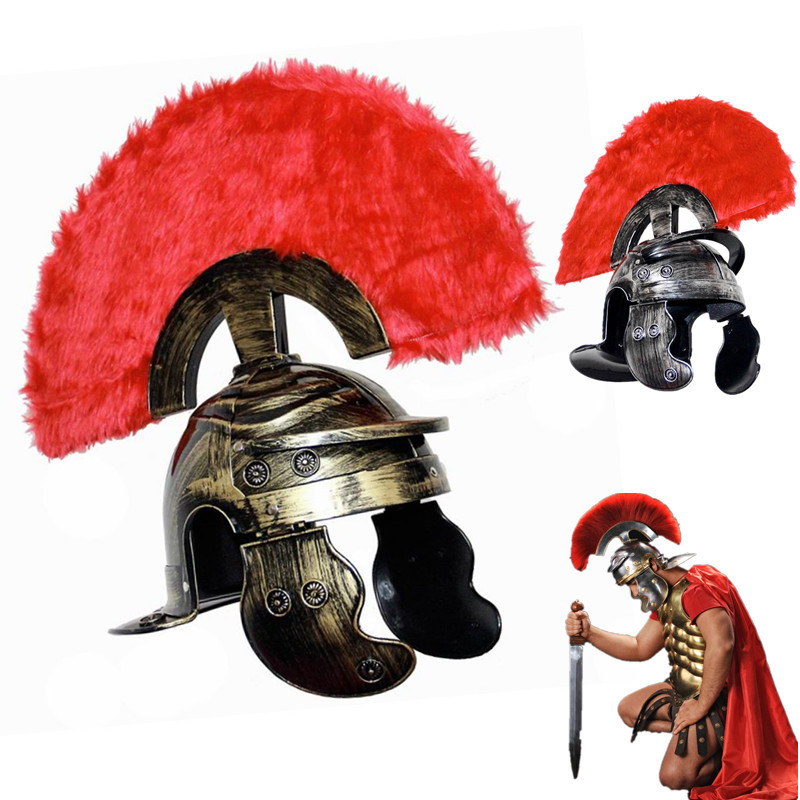 COSPLAY dance Ancient Rome Helmet Warrior Cap Spartacus hat