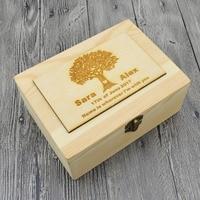Rustic Wedding Ring Bearer Box Personalized Wedding Ring Box Wooden Ring Holder Box Wedding Decor