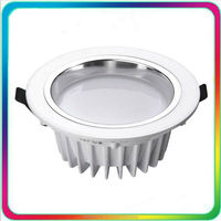 12PCS High Bright Waterproof IP68 LED Downlight IP65 LED Down Light Dimmable 7W 12W 18W COB Recessed Ceiling Spotlight Bulb