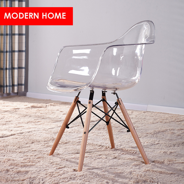 Fashion Stück Esszimmerstuhlmoderne Esszimmer Sesselkunststoff 0transparent Home Loft Modernes Möbel Acryl Design 1 Holz Us158 In Klar Und v0wNO8nm