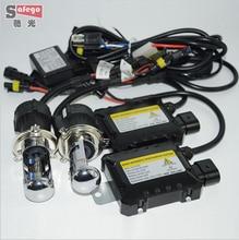 1 satz 55 Watt HID H4-3 Hallo/lo Bi xenon H4 Bixenon h4 bi-xenonHID Kit 4300 Karat 6000 Karat 8000 Karat für Auto xenon autoscheinwerfer t DC 2 V