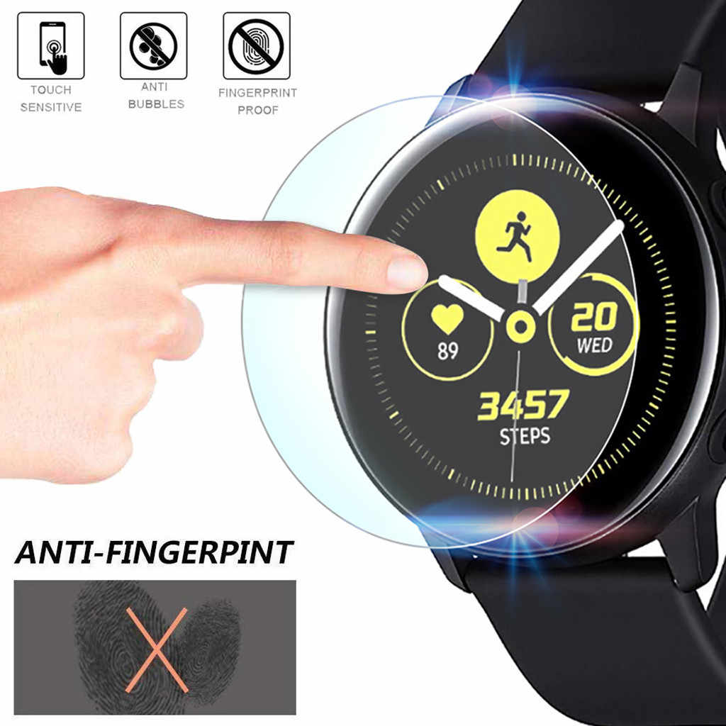 Smartwatch Tempered Glass Dirtproof 2Pack Explosion-proof TPU Screen Protector Film For Samsung Galaxy Smart Watch Active#h