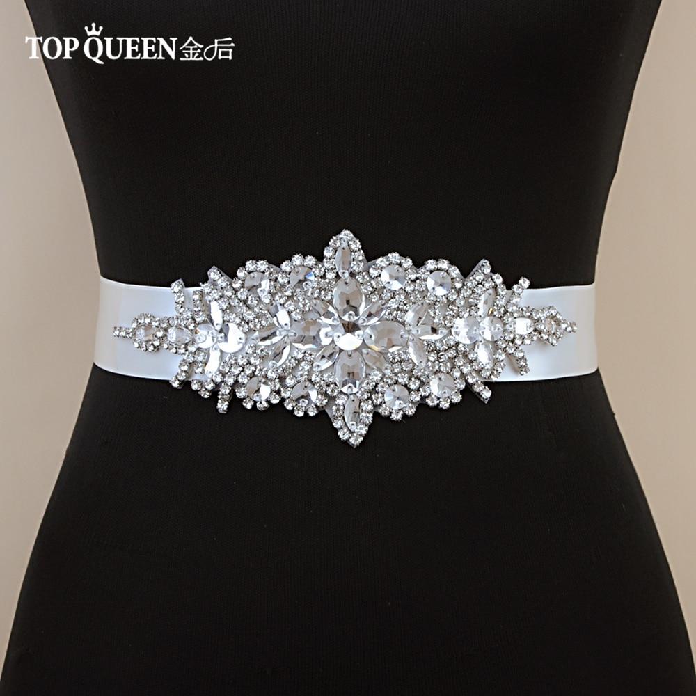 TOPQUEEN S01 Wedding Belt  Rhinestone  Bridal Sashes Belts For Evening Party Wedding Accessories Bridal Belts Wedding Dress Belt
