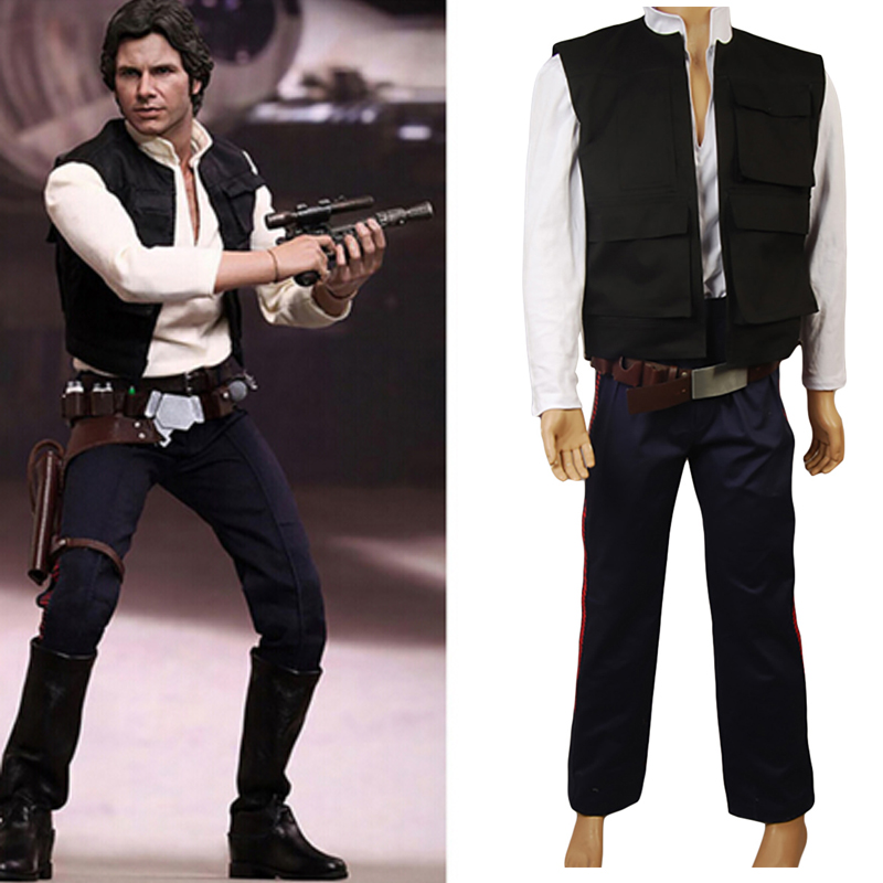 Movie Star wars cosplay costume Han Solo cosplay costume adult Halloween costumes for men cosplay Han Solo suit Men