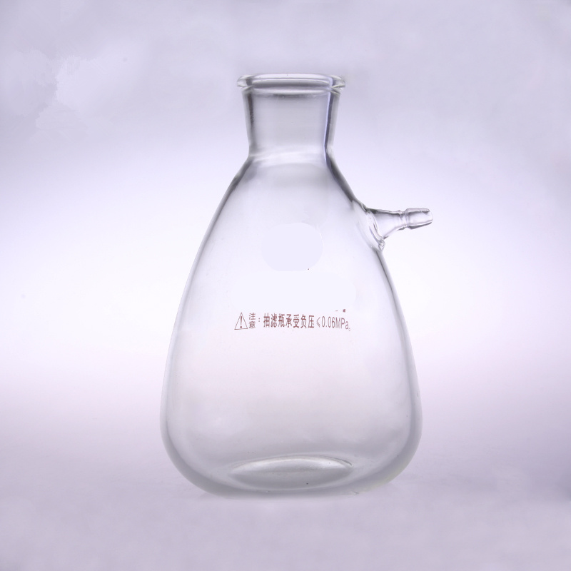 2500ml Glass Buchne Flask with one tube ;Suction Filter Flask;Lab glassware;lab supplies