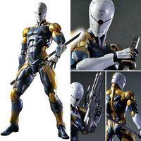 ARTS JOGAR 24 cm Metal Gear Solid Gray Fox Action Figure Modelo Brinquedos
