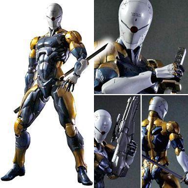 PLAY ARTS 24cm Metal Gear Solid Gray Fox Action Figure Model Toys