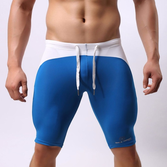 ba42b77a42f Multifunction Sport Wear Shorts Men Swimwear Swimming Shorts Long Swimming  Trunks Sexy Swimsuit Swim Boxer Briefs Brave person