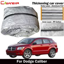 Cawanerl Three Layer Thick Car Cover Outdoor Sun Shade Rain Hail Snow Dust Resistant Cover Waterproof For Dodge Caliber