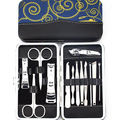 13pc Nail Art Manicure Sets Nails Clipper Scissors Tweezer Knife Tools