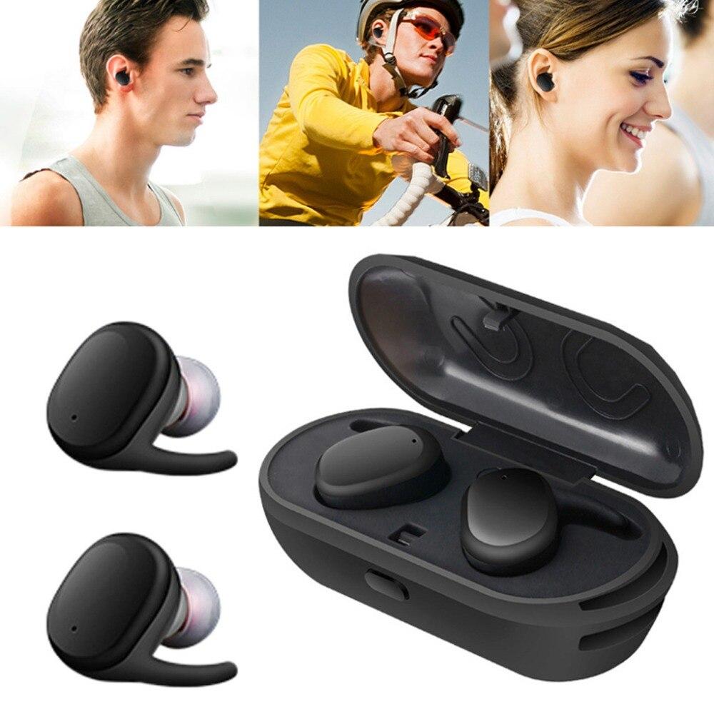 1 Paar Draadloze Bluetooth Oortelefoon In-ear Stereo Magnetische Hoofdtelefoon Sport Headset Touch Control Draagbare Opladen Doos Oordopjes Oor