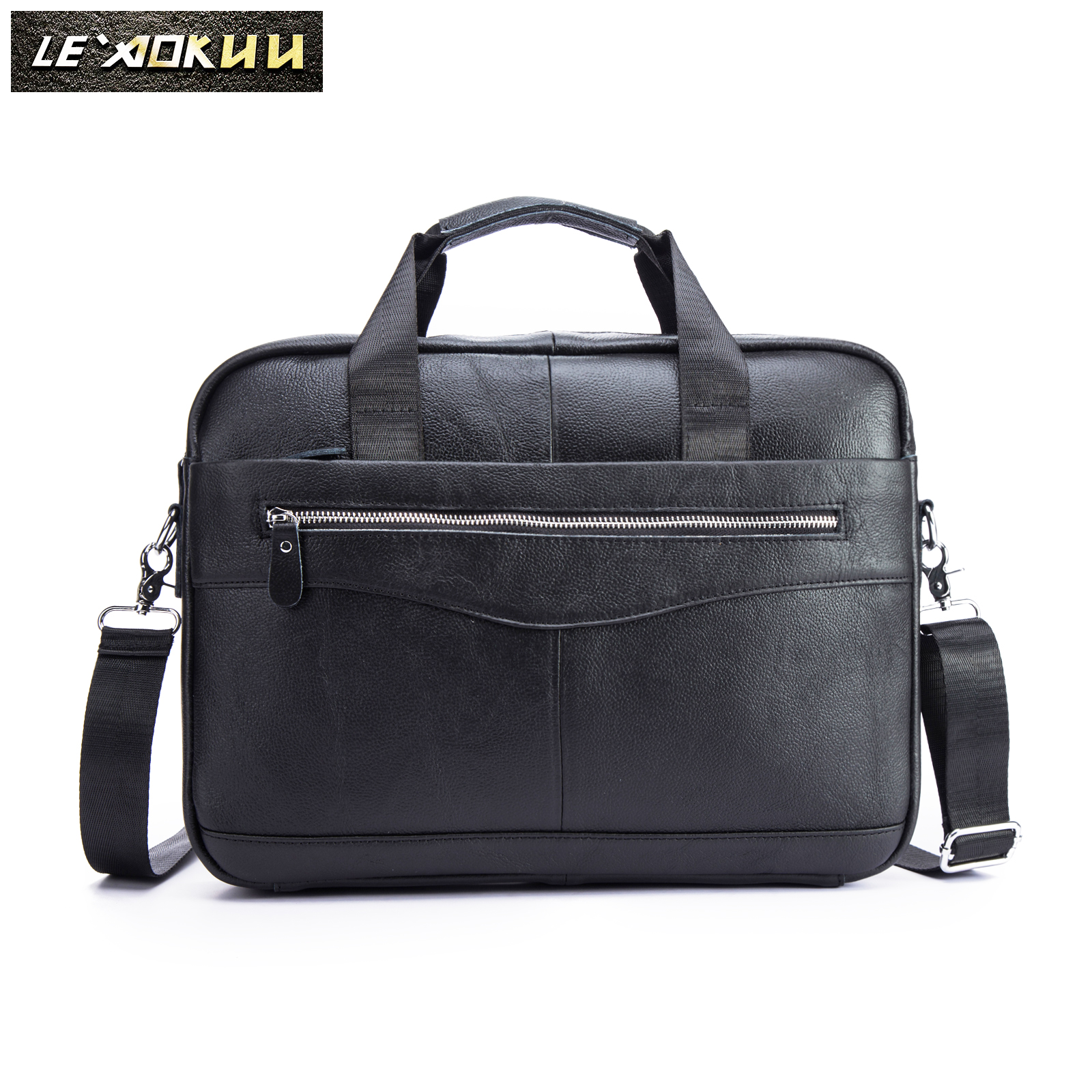 Men Genuine Leather Vintage Fashion Travel Briefcase Business 15.6 Laptop Case Design Attache Messenger Bag Portfolio 1118bMen Genuine Leather Vintage Fashion Travel Briefcase Business 15.6 Laptop Case Design Attache Messenger Bag Portfolio 1118b
