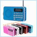 Mini PortableDual Recarregável Banda Digital LED Do Painel de Exibição FM Estéreo Locutor de rádio USB TF Mirco Para SD Card MP3 Music jogador