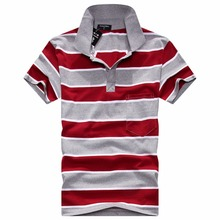 2016 new Polo men Striped short sleeve turndown collar with Pockets