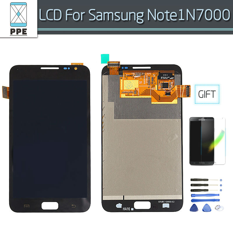 AAA High Quality For Samsung Note 1 N7000 LCD Display Touch Screen Digitizing Assembly For Samsung N7000 LCD Free Shipping+Tools