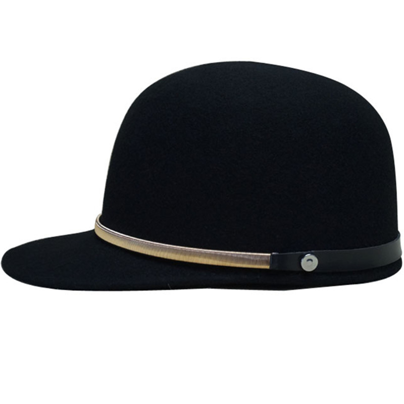Gold chain equestrian black cap strap baseball cap hat autumn and winter wool male Women knitted skullies cap the new winter all match thickened wool hat knitted cap children cap mz081