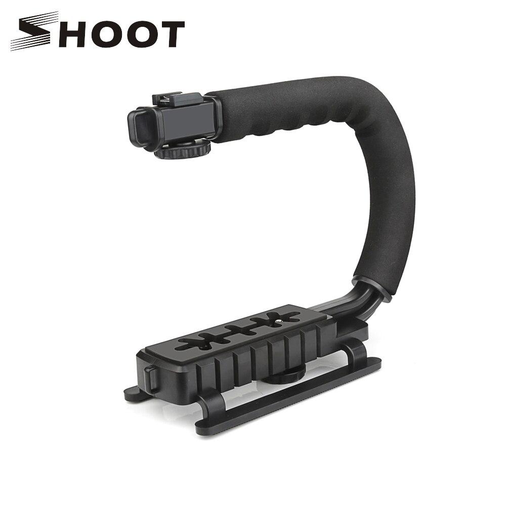 SCHIEßEN C Förmigen Halter Grip Video Handheld Stabilisator für DSLR Nikon Canon Sony Kamera Stabilisator für GoPro Hero 7 6 5 Yi 4 karat SJ7
