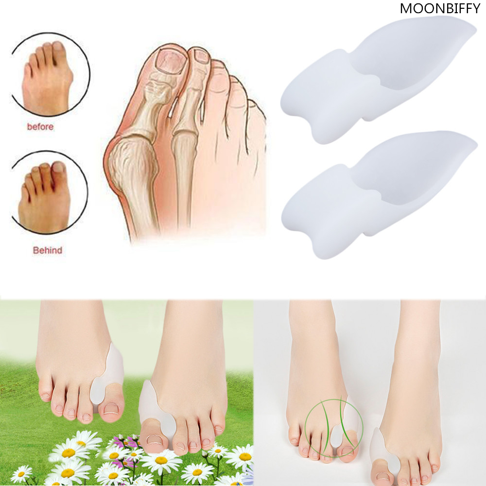 Hallux Valgus Orthosis Toe Separators Pain Relieve Feet Care Soft Silicone Shoe Pad HSF19 1pair free size toe straightener big toe spreader correction of hallux valgus pro toe corrector orthopedic foot pain relief