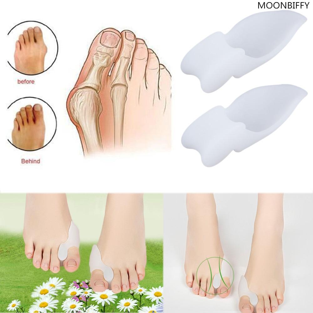 цена Hallux Valgus Orthosis Toe Separators Pain Relieve Feet Care Soft Silicone Shoe Pad HSF19