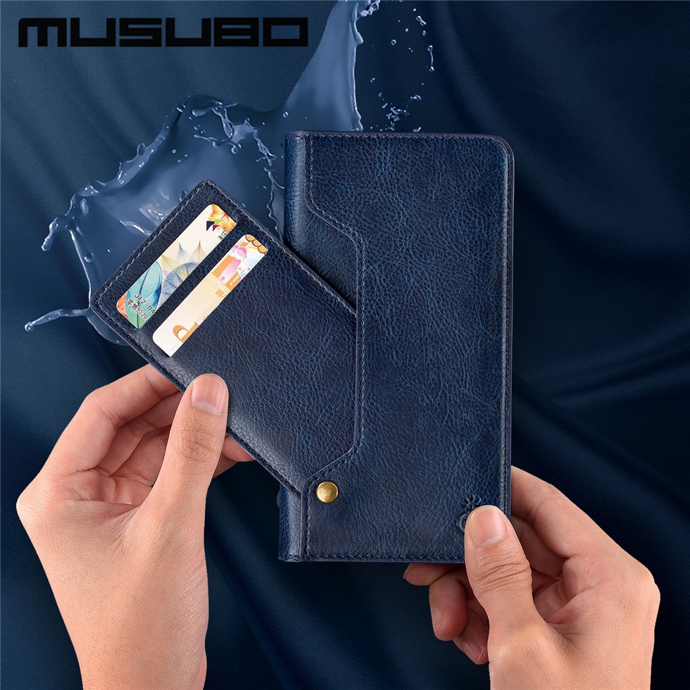 Original Musubo For iPhone 8 Plus 7 6 6s Plus Cases Vintage Leather Flip Stand Case Cover For Samsung S8 Note 8 Magnetic Capa