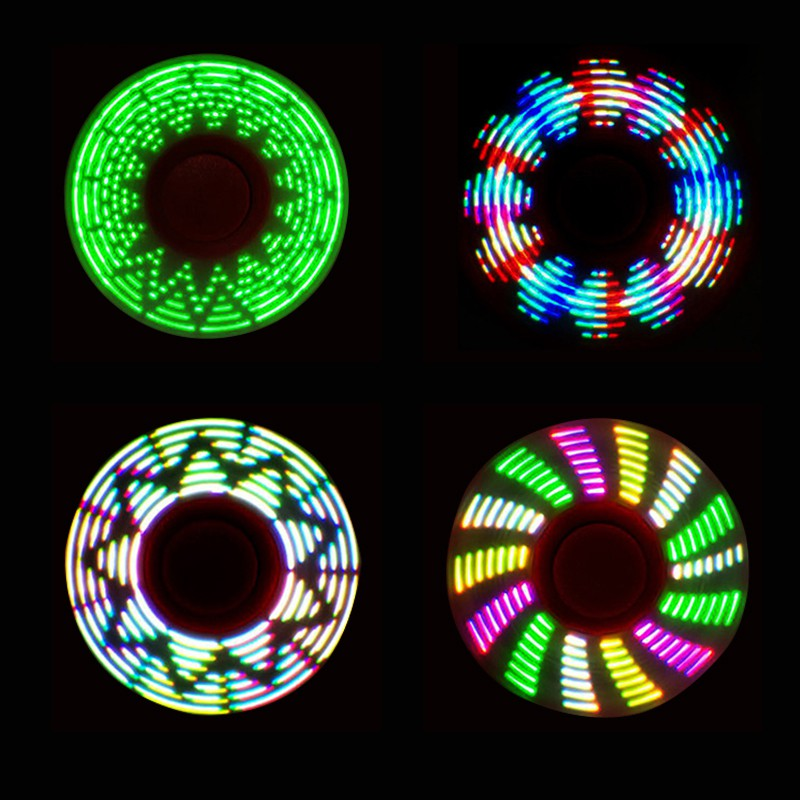 New Arrival LED Light Hand Spinner for Autism and ADHD Relief Focus Anxiety Stress Gift Toys Spinning Top Toys  Fidget Spiner multi color gyro led light finger spinner fidget plastic abs hand for autism adhd anxiety stress relief focus toys gift