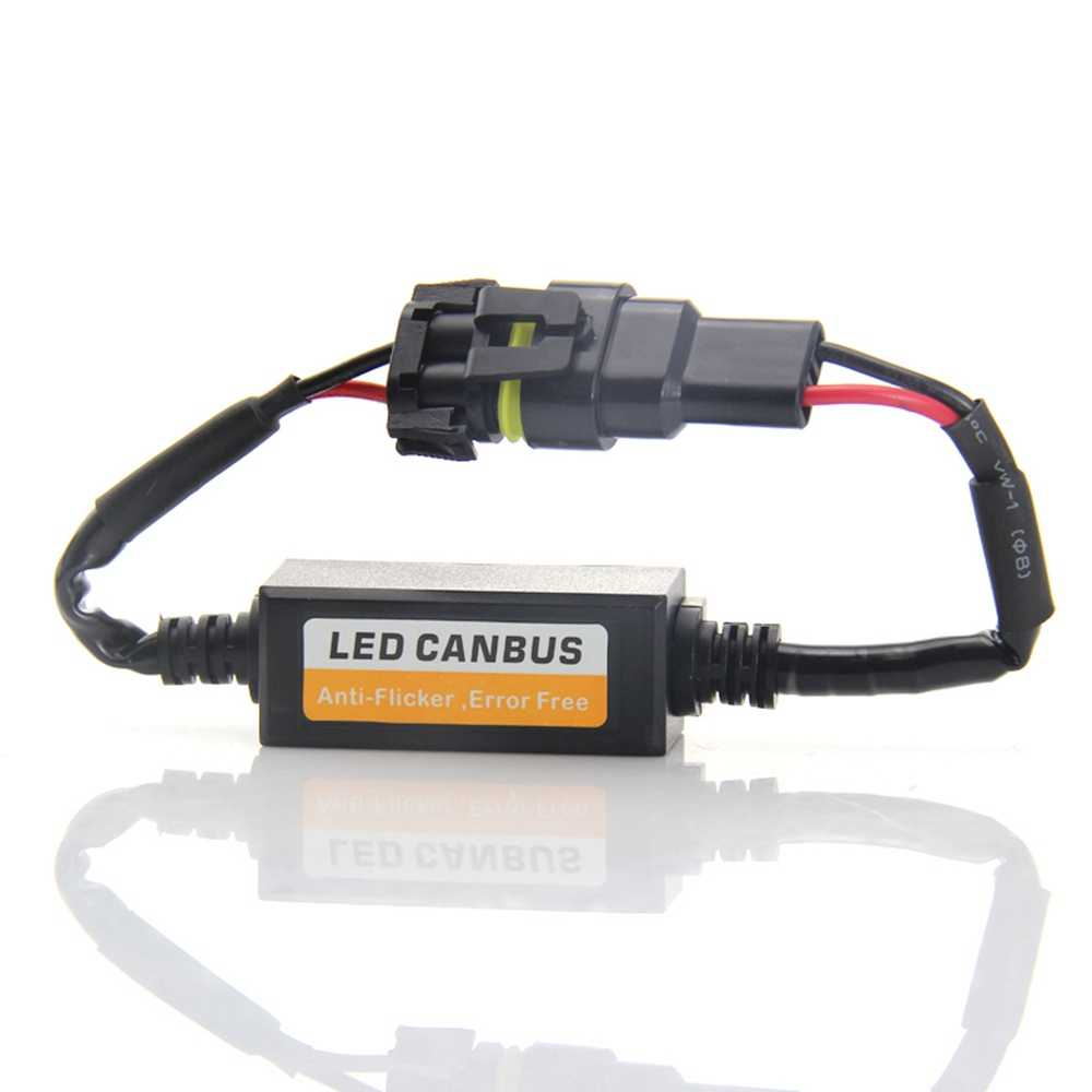 H1 H3 H4 9005 9006 H7 LED Headlight Decoder CAN-BUS Warning Canceller  Capacitor Anti-flicker Resistor harness Canbus Error Free