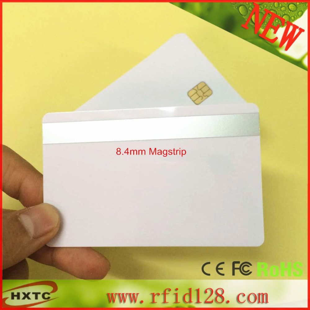 (50PCS/Lot) ISO7816  2 in 1 SLE4442& Hi-Co Track 1 Track 2  8.4mm Sliver colors Magnetic Stripe Smart chip PVC Card iso certificated swordlike atractylodes rhizome extract 100g lot