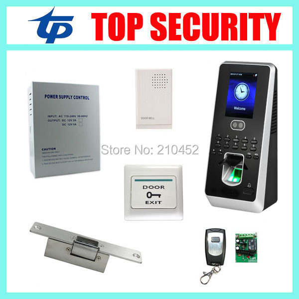 Linux system biometric face time attendance and access control system DIY TCP/IP face and fingerprint access controller kit tcp ip biometric face recognition door access control system with fingerprint reader and back up battery door access controller