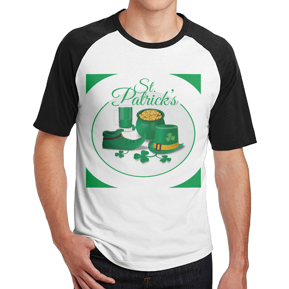 Leprechaun hat St. Patrick's Day shamrock shirts tee Round ... on maleficent golf cart, unicorn golf cart, ghostbusters golf cart, predator golf cart, gnome golf cart,