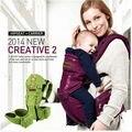 2015 algodão Orgânico portador de bebê Sling Criança envoltório Rider canvas Multifuncionais Respirável suspensórios Mochilas Atividade & Engrenagem